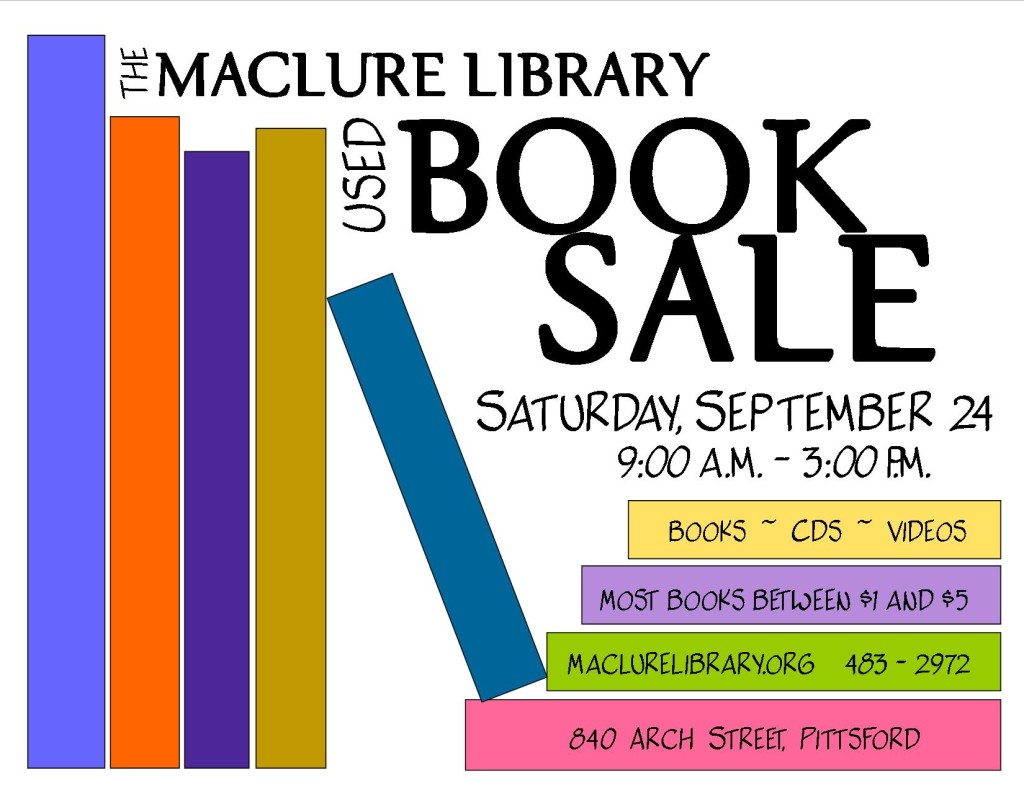 2016 book sale poster with boxes