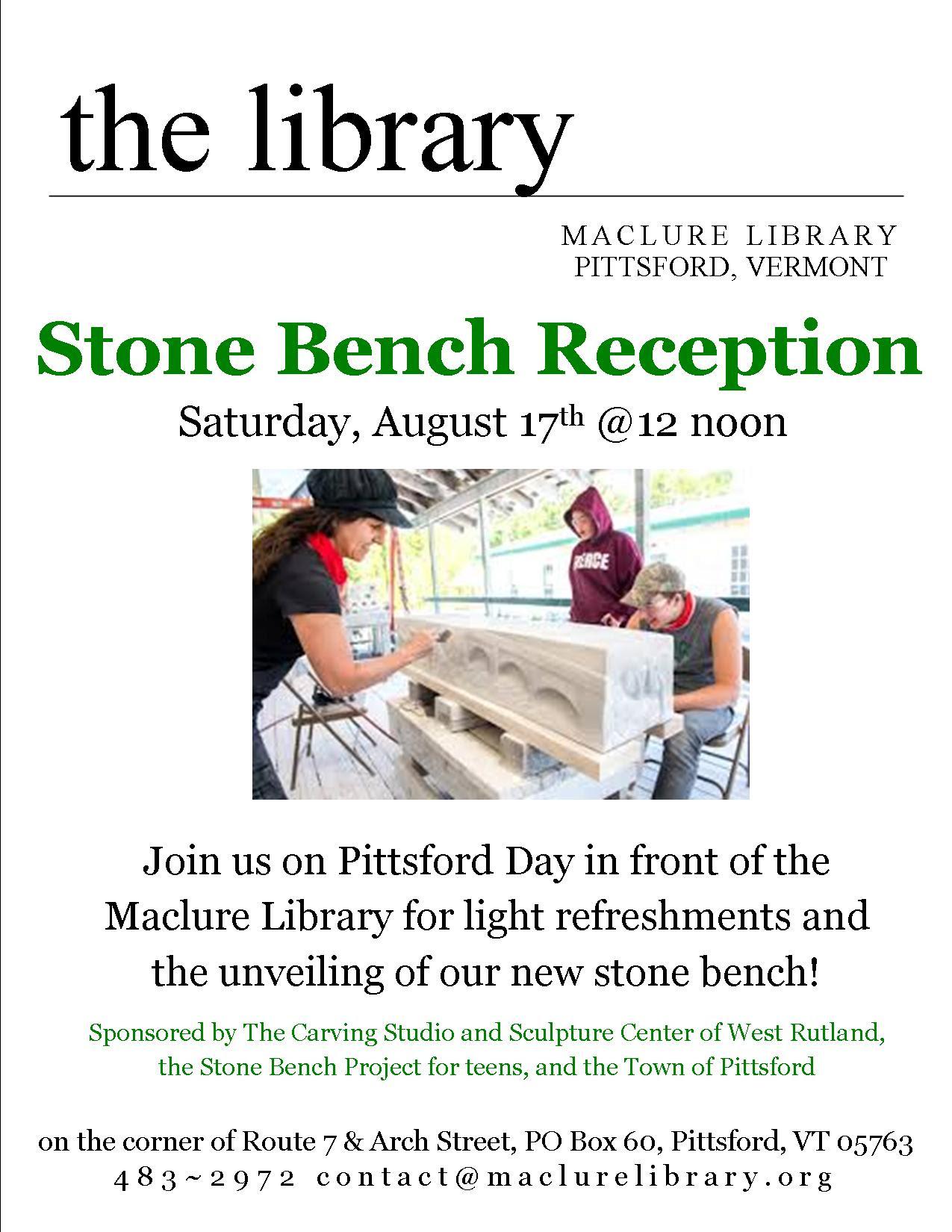 Magnificent Stone Bench Reception Maclure Library Inzonedesignstudio Interior Chair Design Inzonedesignstudiocom